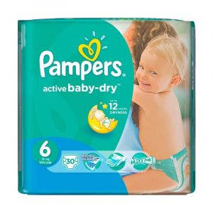 PAMPERS PELNE ACTIVE BABY 6 XL 16+KG JUMBO 1418
